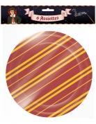 Zauberschüler-Pappteller Halloween-Partydeko 6 Stück rot-gelb 22 cm