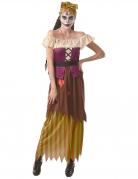 Furchteinflössendes Voodoo-Kostüm für Damen Halloweenkostüm bunt