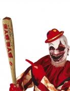 Aufblasbarer Baseballschläger für Horrorclowns braun-rot 75 cm