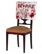 Halloween-Stuhlhusse mit Blutspritzer weiss-rot 48 x 38 cm