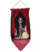 Unheimlicher Skelett-Wahrsager Halloween-Hängedeko bunt 70 x 30 cm