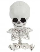 Baby-Skelett Dekofigur für Halloween weiß-schwarz 20 cm
