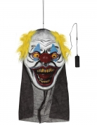 Horror-Clown-Deko mit Licht bunt 95 x 35 cm