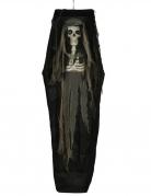 Skelett im Sarg mit Licht Halloween-Deko schwarz 160 cm