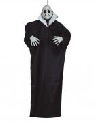 Serienmörder-Deko-Figur mit Licht und Ton Halloween-Deko schwarz-weiss 170 cm