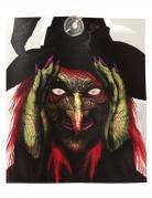 Fenster-Deko neugierige Hexe Halloween-Fensterbild 28 x 31 cm bunt
