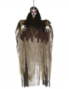 Voodoo-Figur Halloween-Deko braun-schwarz-weiss 120 cm