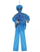 Chirurg Halloween-Dekofigor mit Sound blau-rot 100 cm