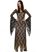 Sexy Dämonenkostüm für Damen Halloweenkostüm schwarz-beige