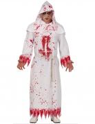 Satanisten-Mönch-Kostüm für Erwachsene rot-weiss