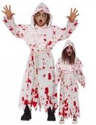 Blutige Kutte für Kinder Halloween-Kinderkostüm weiss-rot