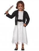 Mörder-Puppe-Kostüm für Kinder weiß-schwarz