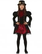 Steampunk-Kleid Steampunk-Kostüm für Mädchen rot-schwarz