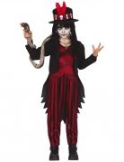 Voodoo-Zauberer-Kostüm für Jungen schwarz-rot