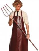 Blutige Horror-Mistgabel Halloween-Accessoire rot-silberfarben 155 cm