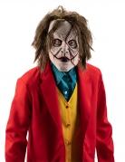 Gruselige Clownmaske mit Haaren für Erwachsene