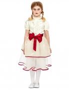Horrorfilm Puppen-Kostüm für Mädchen Halloweenkostüm weiss-rot