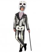 Tag der Toten-Kostüm für Herren schwarz-weiss-rosa