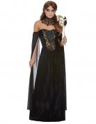 Düstere Gräfin Halloween-Damenkostüm schwarz