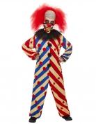 Unheimlicher Horrorclown Jungen-Kostüm bunt