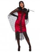 20er-Jahre Vampir Halloween rot-schwarz