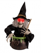 Hexen-Figur mit Licht und Geräuschen Halloween 70 cm