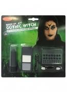 Schmink-Set Goodmark™ für Erwachsene Gothic-Hexe Witch schwarz grau