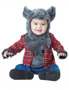 Werwolf-Kostüm für Babys grau-rot-blau