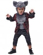 Werwolf-Kostüm für Kinder Halloween grau-rot