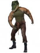 Bissiges Krokodil-Kostüm für Herren Halloween Tierkostüm grün
