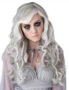 Geister-Perücke für Damen Halloween weiss-grau