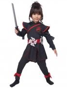 Ninja-Kostüm für Kinder Halloween schwarz-rot
