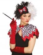 Böse Hundfängerin Accessoire-Set für Damen Halloween-Accessoire rot-weiss-schwarz