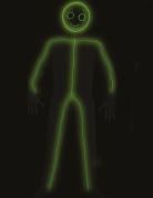 LED-Strichmännchen-Kostüm für Erwachsene schwarz-grün