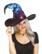 Hexen-Hut mit Galaxy-Muster schwarz-blau-lila