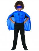 Superhelden-Set für Kinder mit Muskel-Attrappe blau