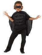 Superhelden-Set für Kinder 3-teilig schwarz