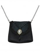 Gothic-Handtasche mit Kamee schwarz