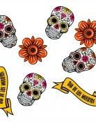 Streu-Deko Halloween-Streuteile Tag der Toten 24-teilig bunt
