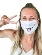 Mundbedeckung Katzengesicht Behelfsmaske Manga für Erwachsene