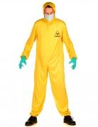 Strahlenschutzanzug-Kostüm für Erwachsene Halloween-Overall gelb