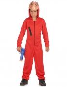 Bankräuber-Kostüm für Kinder Halloween-Filmkostüm rot-schwarz