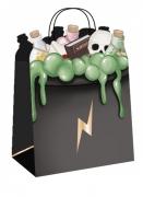 Hexen-Geschenktüten Halloween-Papiertüten 4-Stück 20 cm