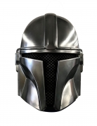 The-Mandalorian™-Maske für Kinder Star Wars™ silber-braun