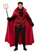 Charmanter Teufel Kostüm Halloween rot-schwarz