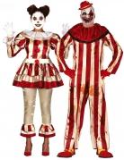 Horrorclown Kostüm für Erwachsene, Paarkostüm, Killerclown