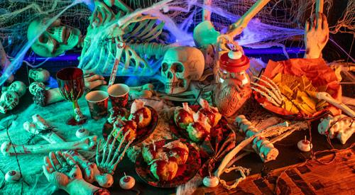 Halloween Deko blutig