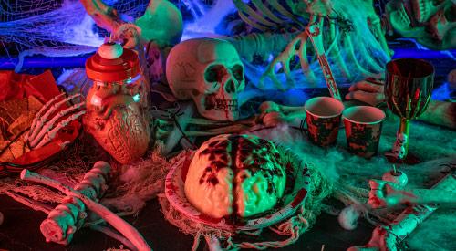 Gehirnpudding Halloween-Rezept
