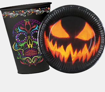 Halloween-Geschirr & -Besteck