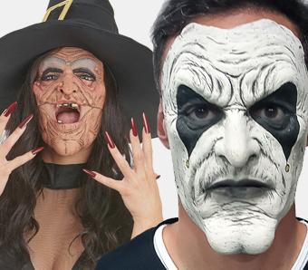Halloween-Halbmasken